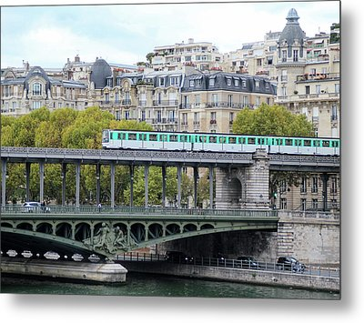 The Metro On The Bridge Metal Print by Yoel Koskas