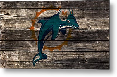 The Miami Dolphins W1 Metal Print by Brian Reaves
