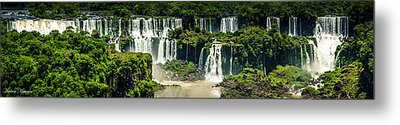 Metal Print featuring the photograph The Mighty Iguazu  by Andrew Matwijec