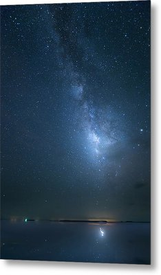 Metal Print featuring the photograph The Milky Way And The Egret by Mark Andrew Thomas