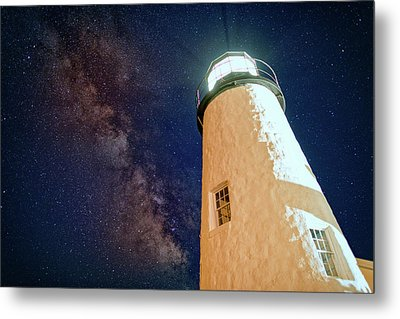 The Milky Way Over Pemaquid Point Metal Print by Rick Berk