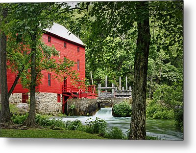 The Mill At Alley Spring Metal Print by Cricket Hackmann