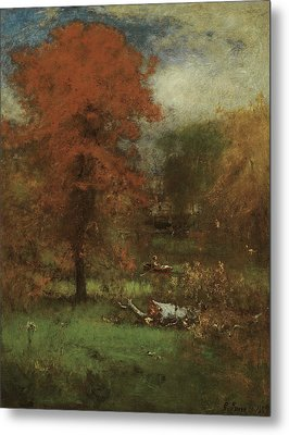 The Mill Pond Metal Print by George Inness