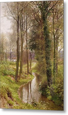 The Mill Stream Metal Print by Henry Sutton Palmer