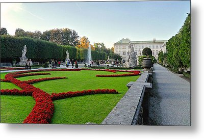Metal Print featuring the photograph The Mirabell Palace In Salzburg by Silvia Bruno