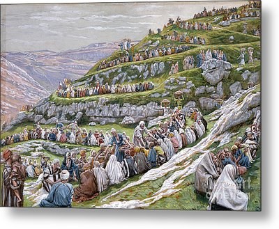 The Miracle Of The Loaves And Fishes Metal Print