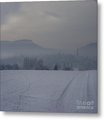 The Misty Wintery Afternoon Metal Print by Angel  Tarantella