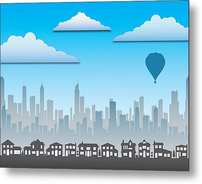 Metal Print featuring the photograph The Modern City by Anthony Citro