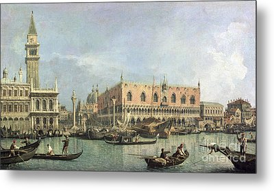 The Molo And The Piazzetta San Marco Metal Print