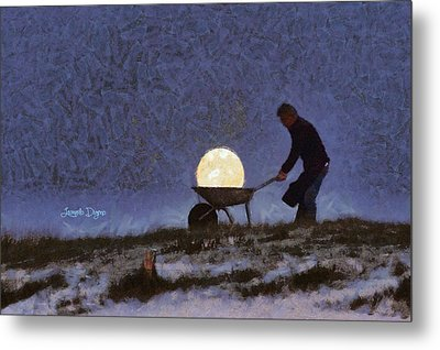 The Moon Keeper - 1 Of 7 - Da Metal Print by Leonardo Digenio