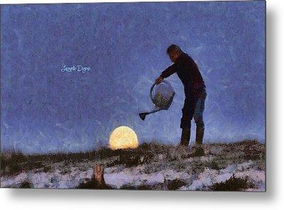 The Moon Keeper - 2 Of 7 Metal Print by Leonardo Digenio