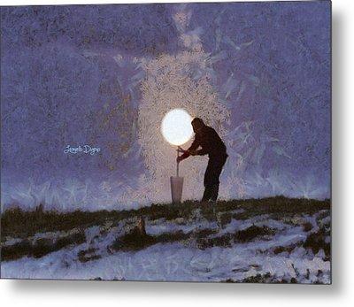 The Moon Keeper - 4 Of 7 - Da Metal Print