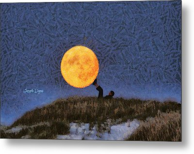 The Moon Keeper - 6 Of 7 - Da Metal Print by Leonardo Digenio