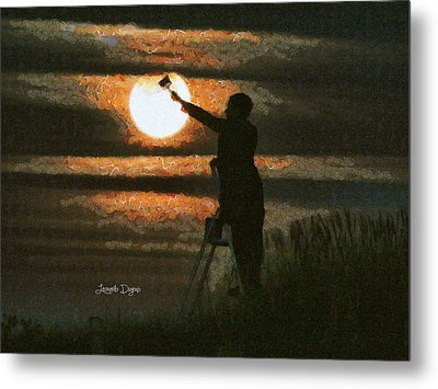 The Moon Keeper - 7 Of 7 - Da Metal Print
