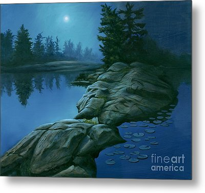The Moonlight Hour Metal Print by Michael Swanson