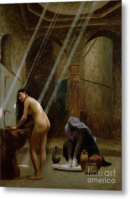 The Moorish Bath Metal Print by Jean Leon Gerome