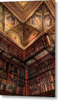 Metal Print featuring the photograph The Morgan Library Corner by Jessica Jenney