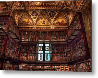 Metal Print featuring the photograph The Morgan Library Window by Jessica Jenney