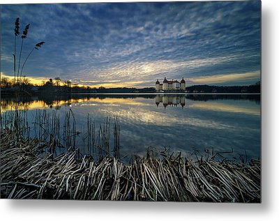 The Moritzburg Castle Is A Baroque Palace In Moritzburg In The German State Of Saxony. Saxony, Germany. Metal Print