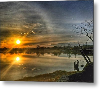 The Morning Sun Dog Metal Print
