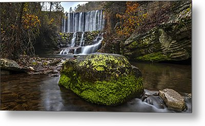 The Mossy Rock Metal Print