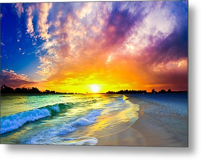 Metal Print featuring the photograph The Most Beautiful Sunset In The World by Eszra Tanner