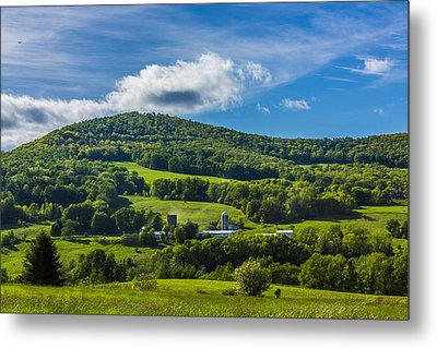 Metal Print featuring the photograph The Mountain And Sky Landscape by Paula Porterfield-Izzo