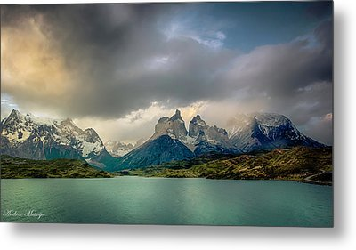 Metal Print featuring the photograph The Mountains On The Lake by Andrew Matwijec