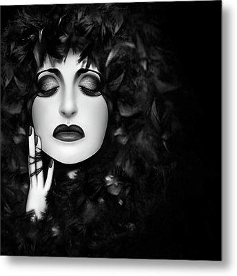 The Mourning - Self Portrait  Metal Print by Jaeda DeWalt