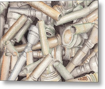 The Mouthpiece Jumble Experiment Metal Print by Ken Powers