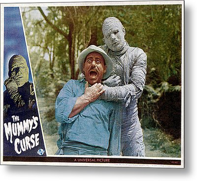 The Mummys Curse, From Left Kurt Katch Metal Print