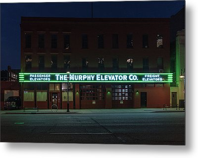 Metal Print featuring the photograph The Murphy Elevator Company by Randy Scherkenbach