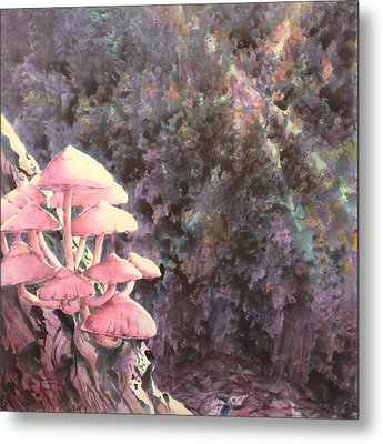 The Mushrooms Life Metal Print by Saadon Bin Saad