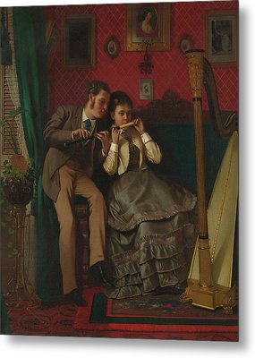 The Music Lesson Metal Print