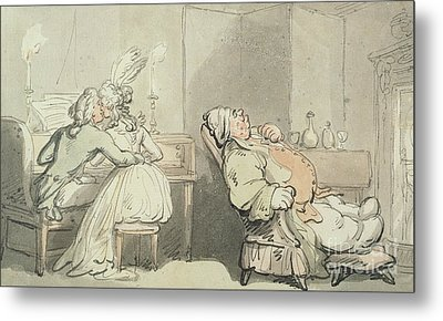 The Music Master Metal Print by Thomas Rowlandson