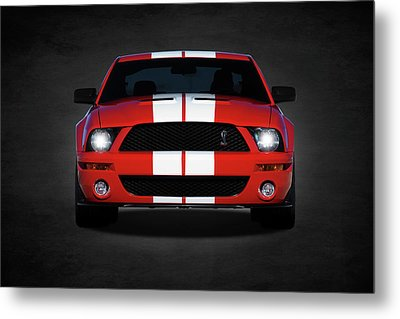 The Mustang Shelby Gt500 Metal Print by Mark Rogan