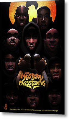 Metal Print featuring the digital art The Mystery Of Chessboxing by Nelson dedosGarcia