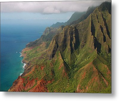 The Napali Coast Metal Print by Stephen  Vecchiotti