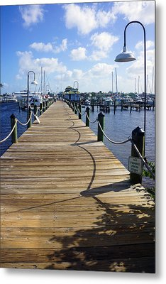 The Naples City Dock Metal Print by Robb Stan