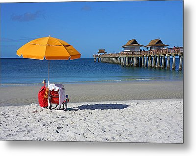 The Naples Pier Metal Print by Robb Stan