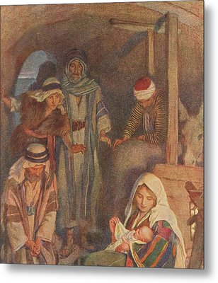 The Nativity Metal Print by Harold Copping