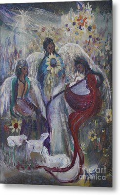 The Nativity Of The Angels Metal Print