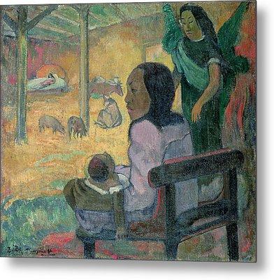 The Nativity Metal Print by Paul Gauguin