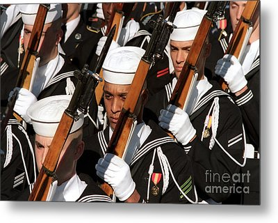 The Navy Ceremonial Honor Guard Metal Print by Stocktrek Images