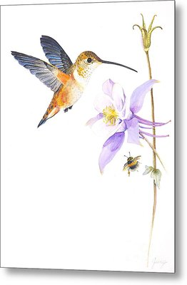 The Nectar Hunt Metal Print by Jany Schindler