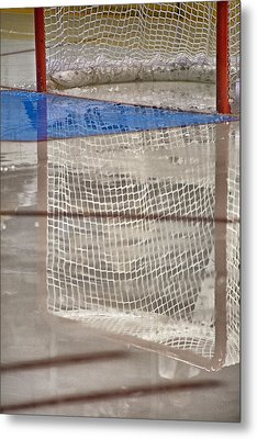 The Net Reflection Metal Print