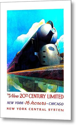 The New 20th Century Limited New York Central System 1939 Leslie Ragan Metal Print