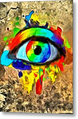 The New Eye Of Horus - Da Metal Print by Leonardo Digenio
