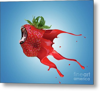 Metal Print featuring the photograph The New Gmo Strawberry by Juli Scalzi