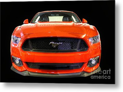 The New Mustang Metal Print by Vicki Spindler